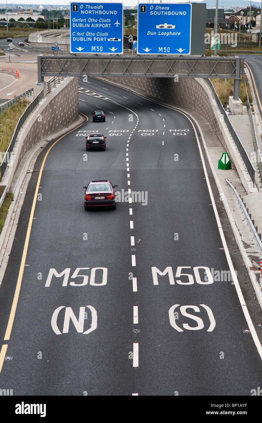 Sliproad onto the M50 Dublin Ringroad - Stock Image
