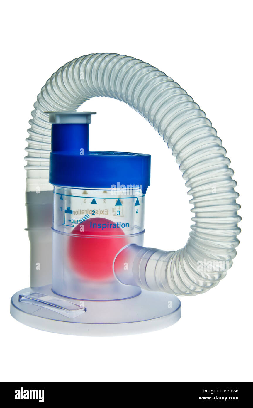 Mediflo Duo breathing exerciser - Stock Image