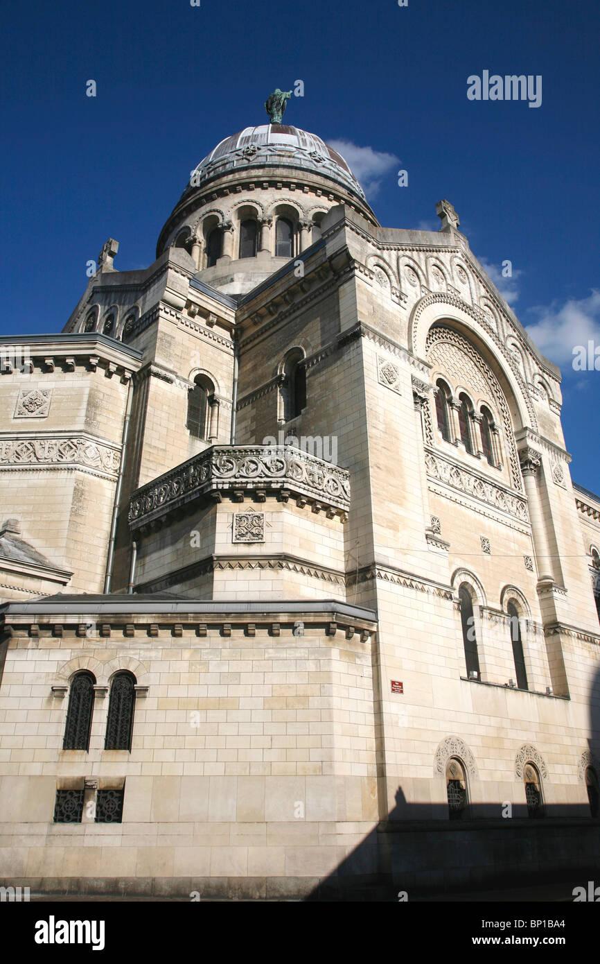 France, Centre val de Loire, Indre et Loire (37), Tours, Saint Martin new basilica (19th century) - Stock Image