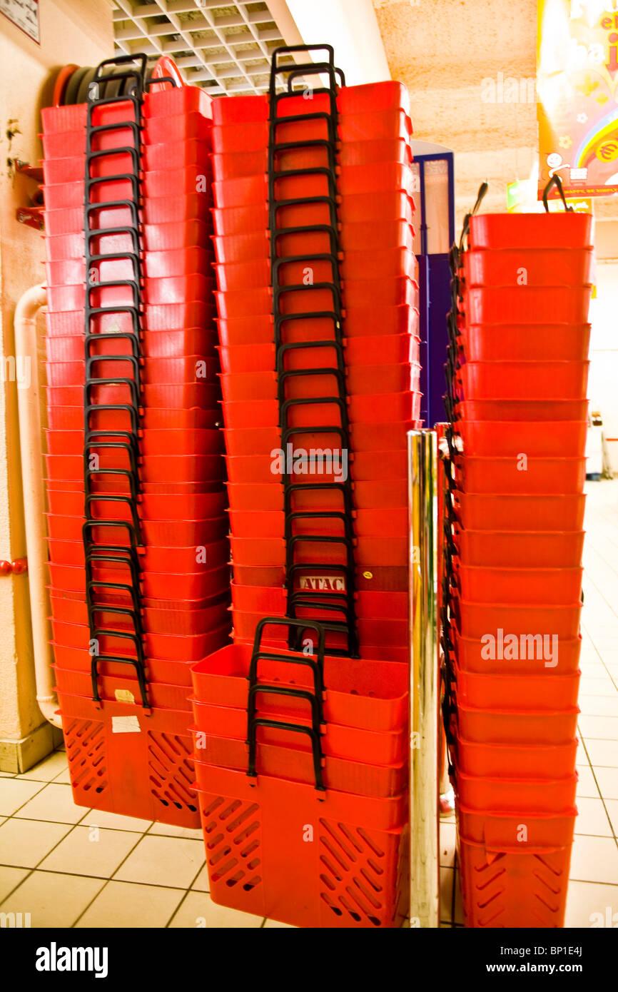 Supermarket baskets - Stock Image