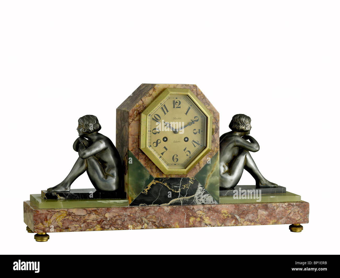 French Art Deco clock - Stock Image
