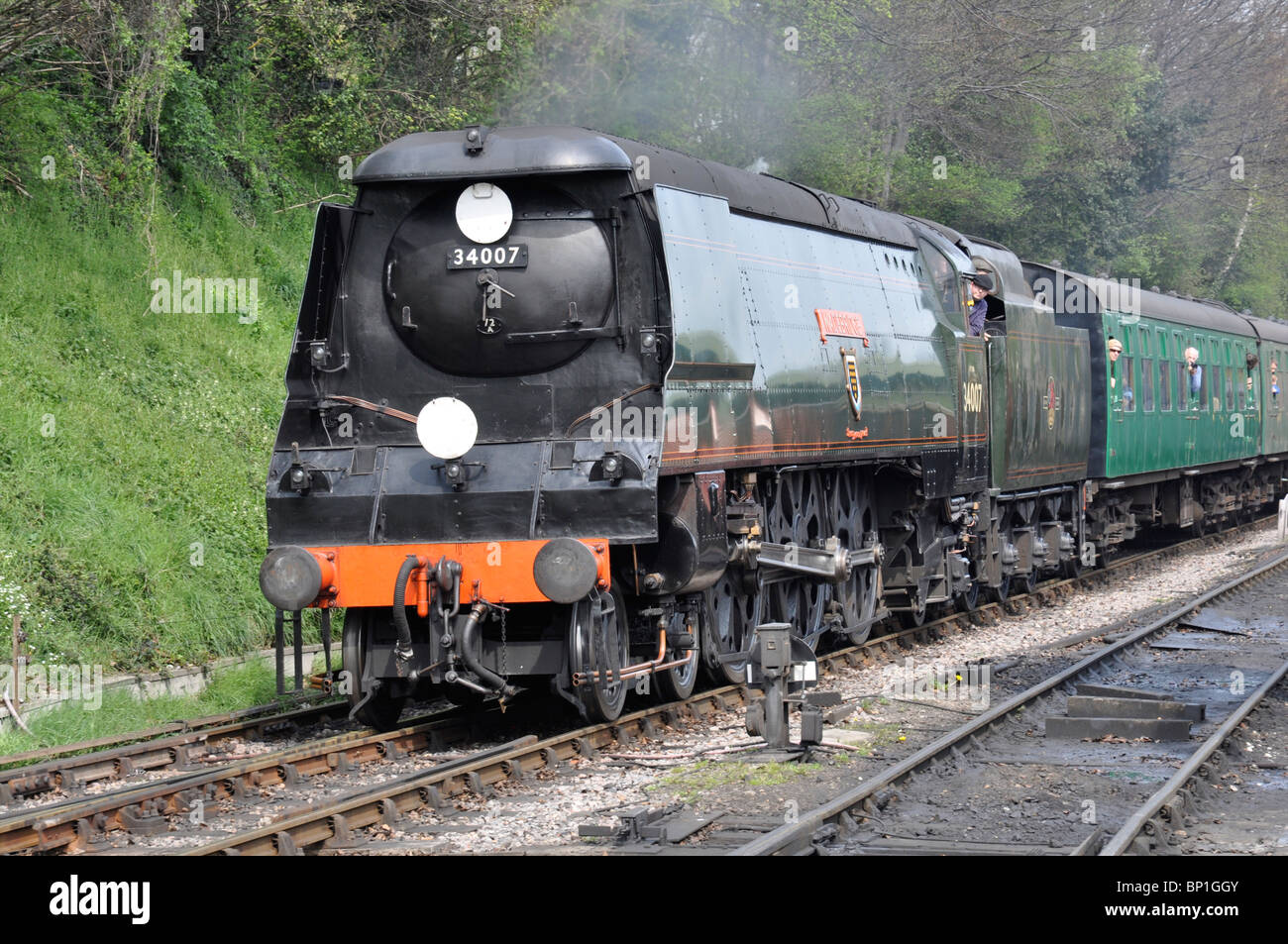 34007 >> Preserved West Country Class Pacific Loco No 34007 Wadebridge On