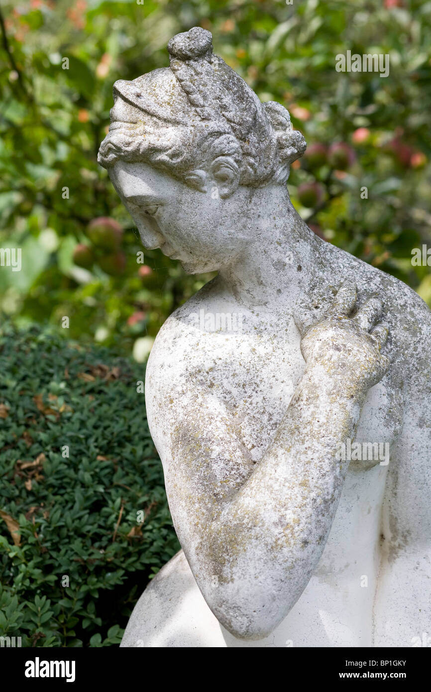A garden statue at Charleston - Stock Image