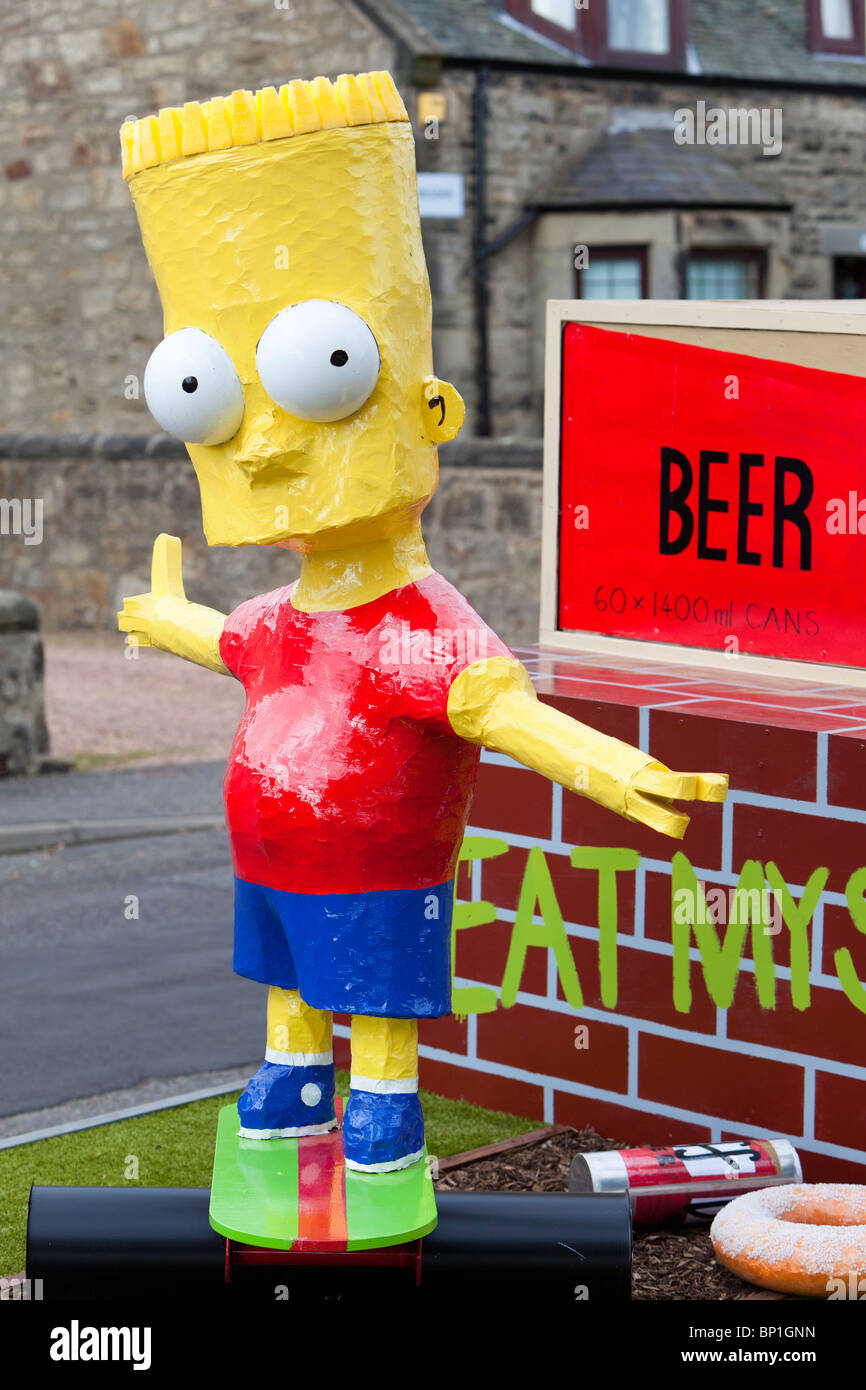 Bart Simpson character on float - Stock Image