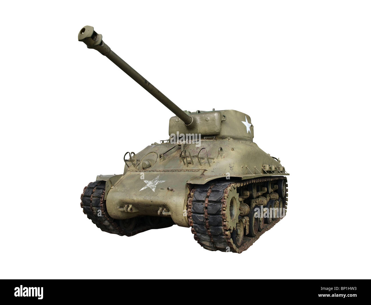 Vintage sherman tank from world war two. - Stock Image