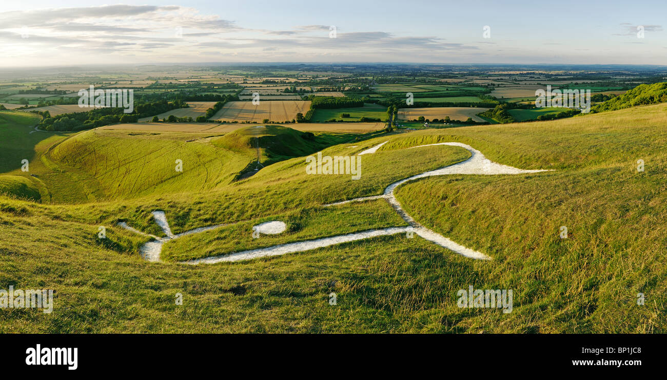 Uffington White Horse, Oxfordshire, England, UK. - Stock Image