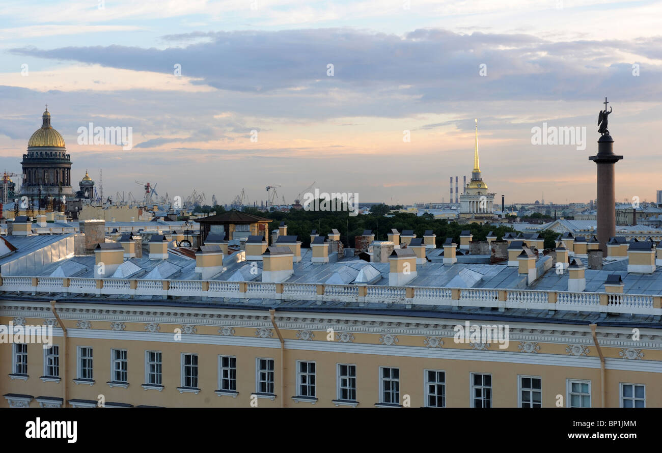A view of Saint Petersburg, Russia - Stock Image
