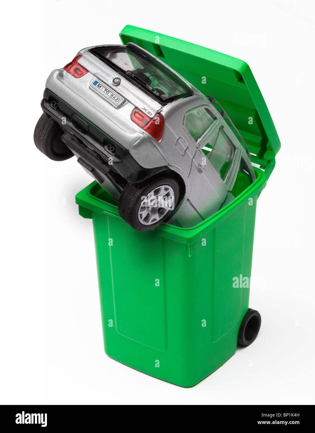 Car scrap allowance - Stock Image
