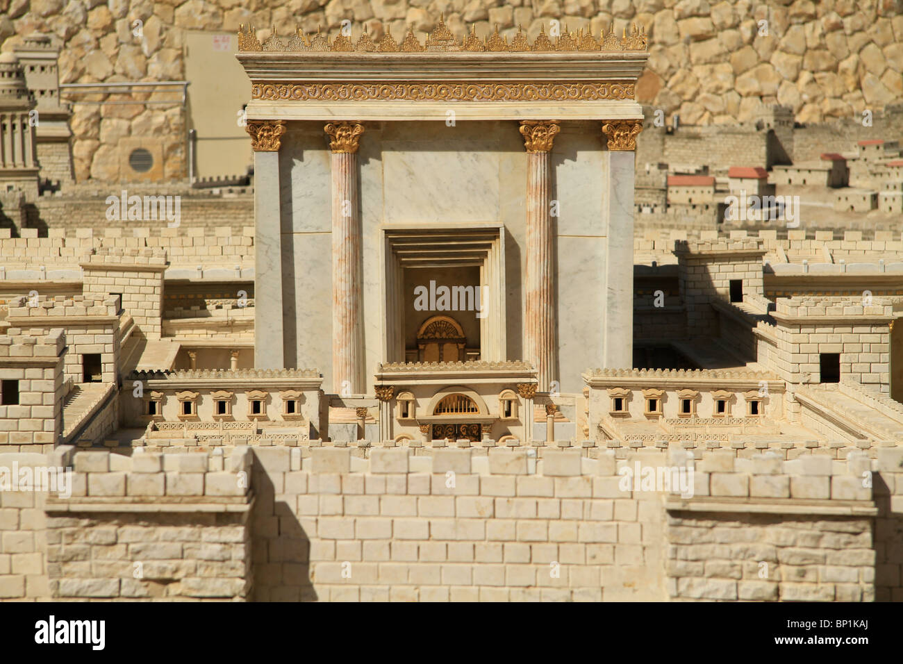 Israel, Jerusalem, the Model of Jerusalem in the Second Temple Period at the Israel Museum Stock Photo