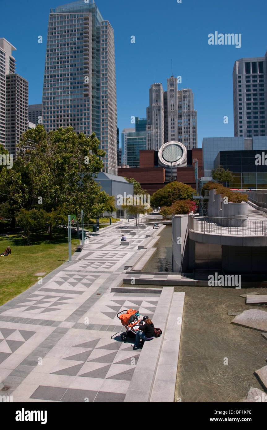 San Francisco, Yerba Buena Gardens. Photo copyright Lee Foster. Photo # casanf103991 - Stock Image
