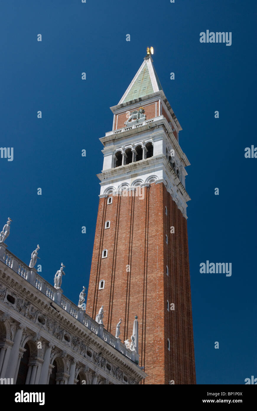 Campanile di San Marco or Bell Tower, St Marks Square, Venice Italy - Stock Image