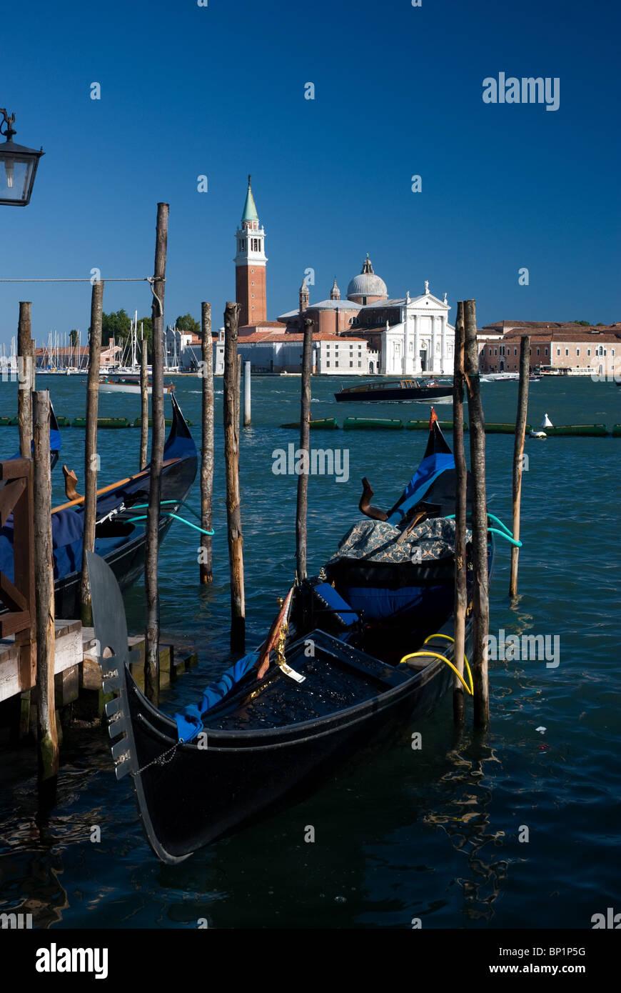 Grand canal and gondolas, Venice, Italy - Stock Image