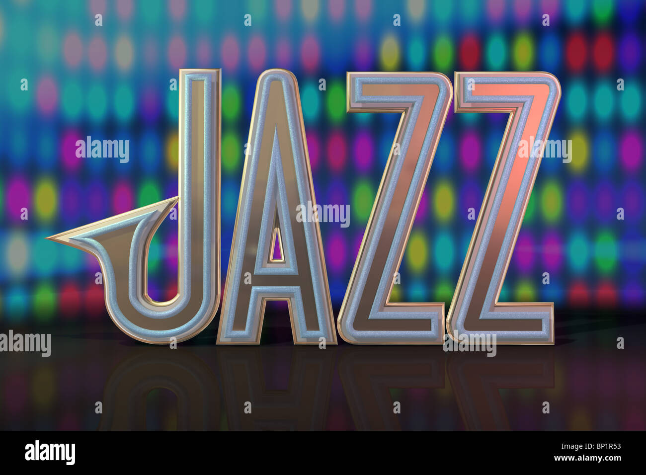 abstract jazz background musical stage - Stock Image