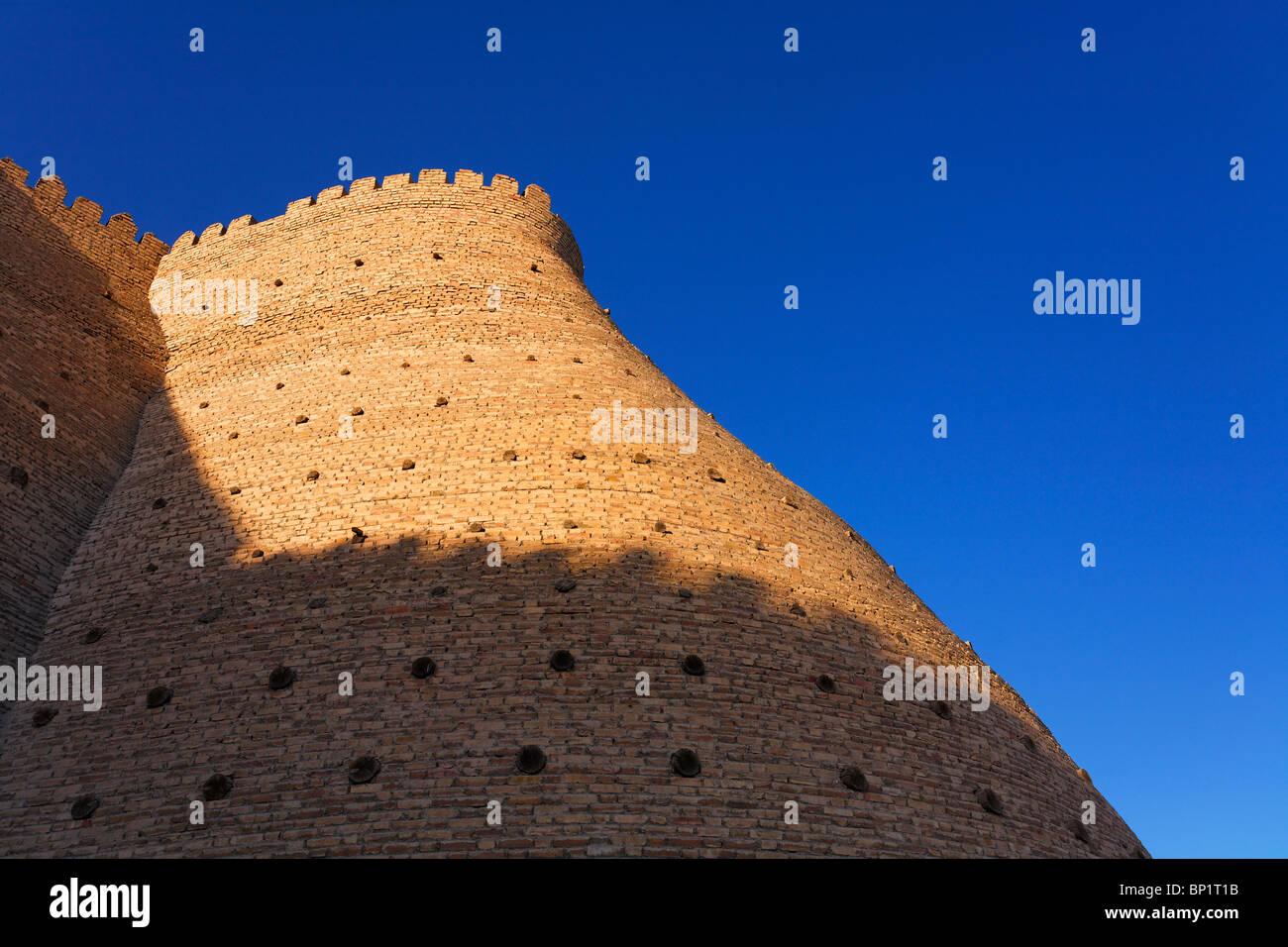 Uzbekistan - Bokhara - the walls of the Ark - Stock Image