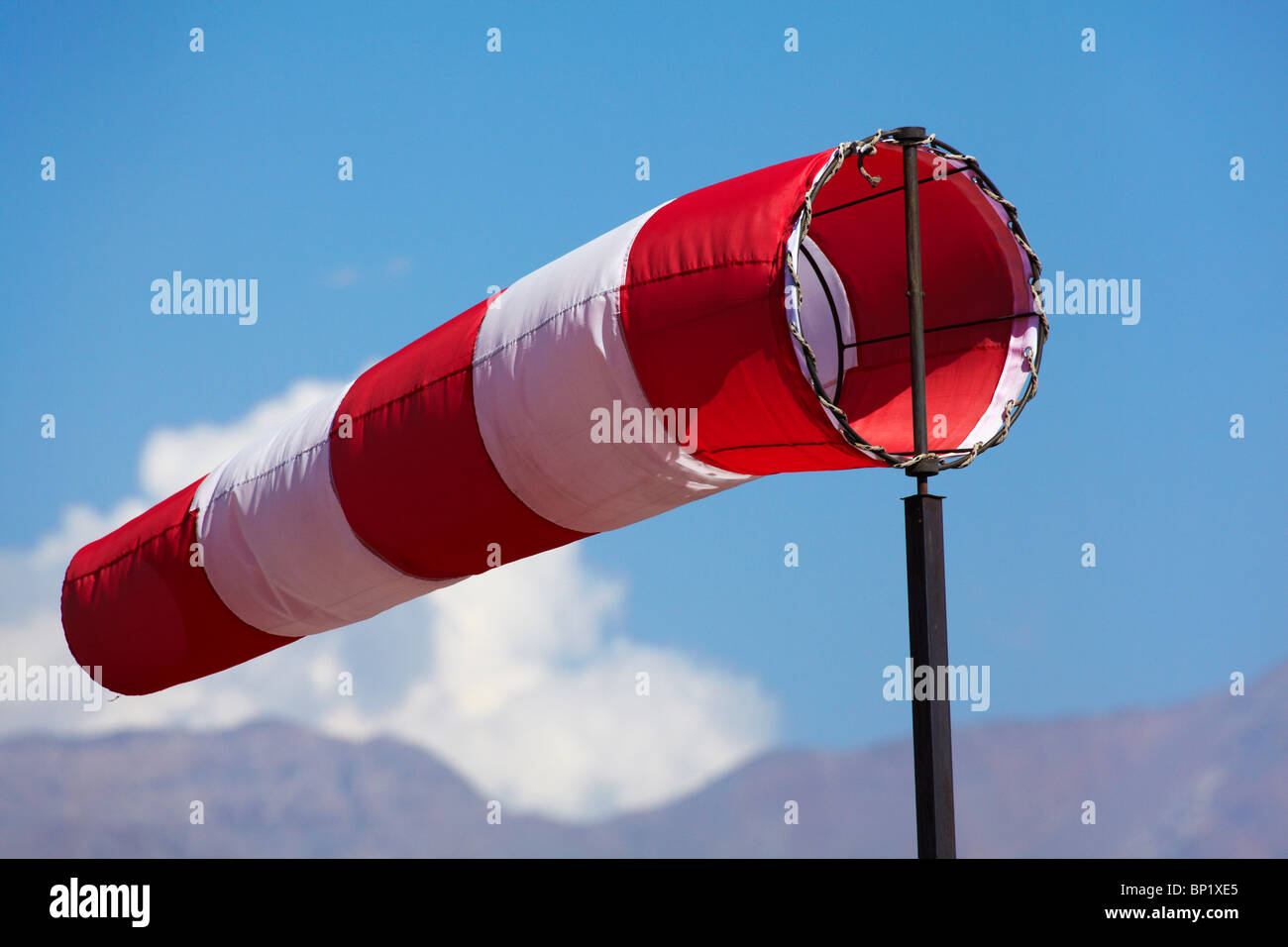 Wind Sock, Vitacura Airfield, Santiago, Chile, South America - Stock Image