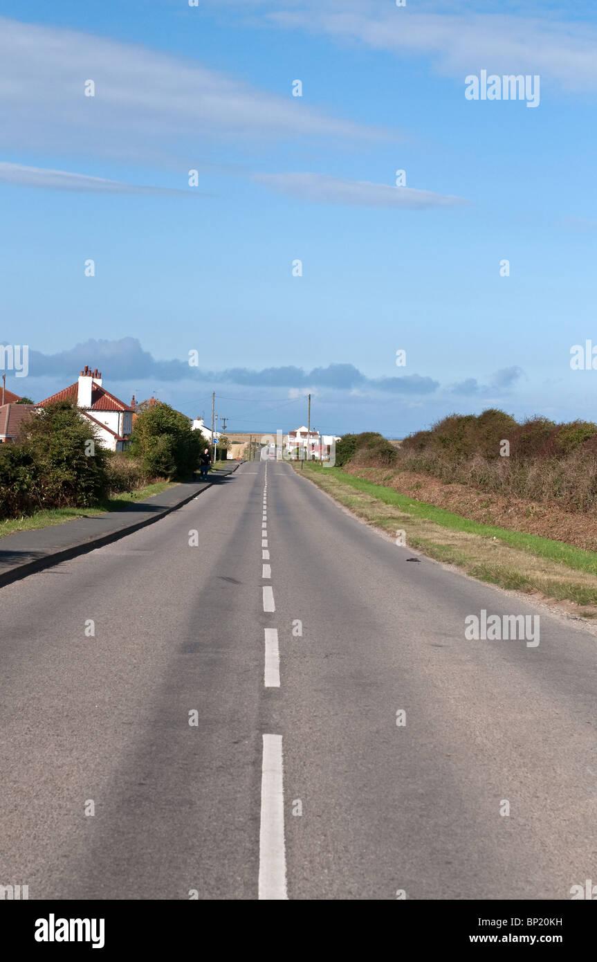 Road to North Landing Flamborough - Stock Image