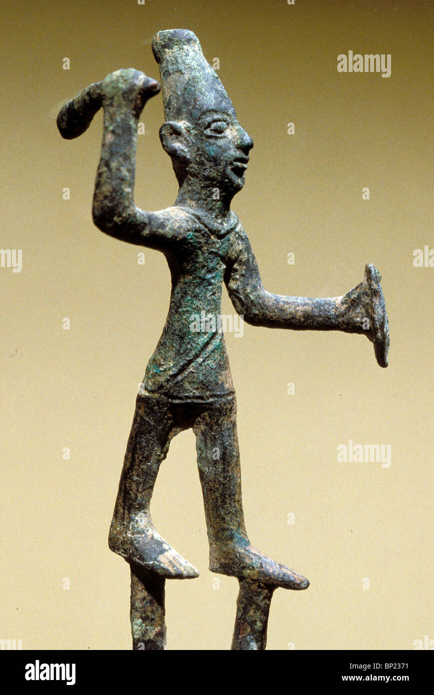 135. BRONZE FIGURINE OF BAAL, CNAANITE GOD OF WAR - Stock Image