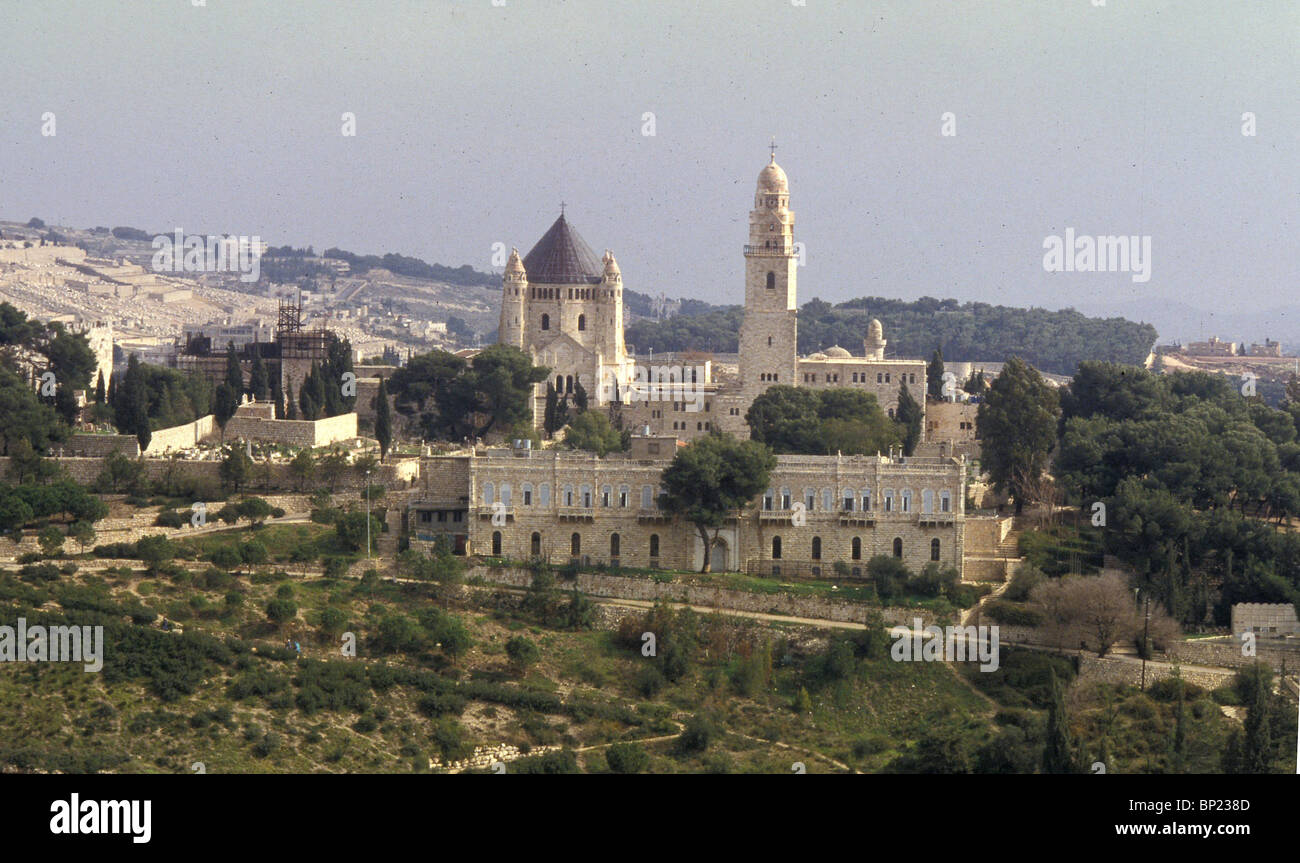 143. MT. ZION WITH THE CHURCH OF DORMITION, ON THE PLACE WHERE THE VIRGIN MARY FELL INTO ETERNAL SLEEP - Stock Image
