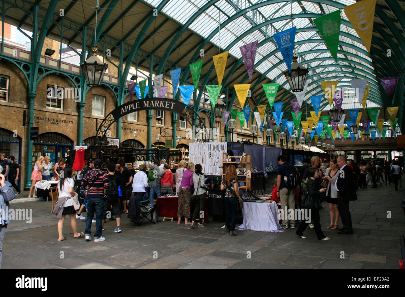 5c49d9b45e Visit to Covent Garden s Apple Market. Craft and antiques stalls ...