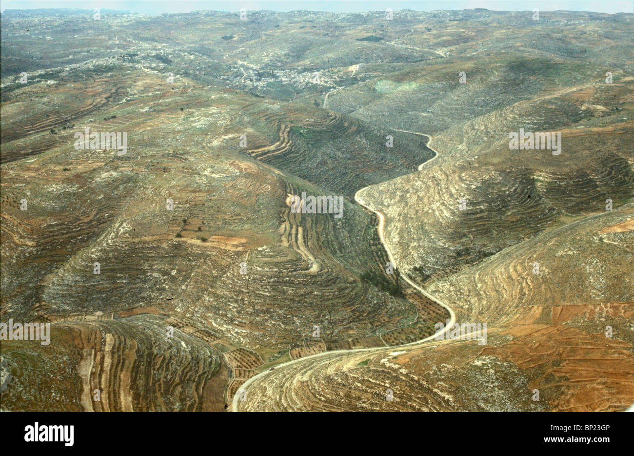 TEKOAH - VILLAGE IN THE HILLS OF JUDEA SOUTH OF JERUSALEM. BIRTHPLACE OF AMOS THE PROPHET. (AM. 1:1) PIC: VIEW OF - Stock Image