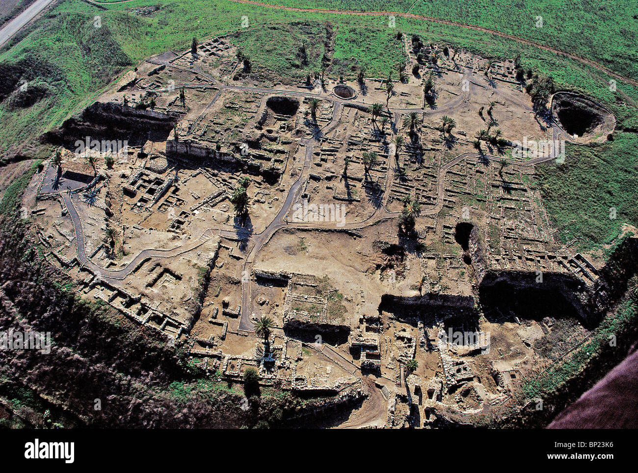 megiddo walled city strategicaly located on the route from coast to