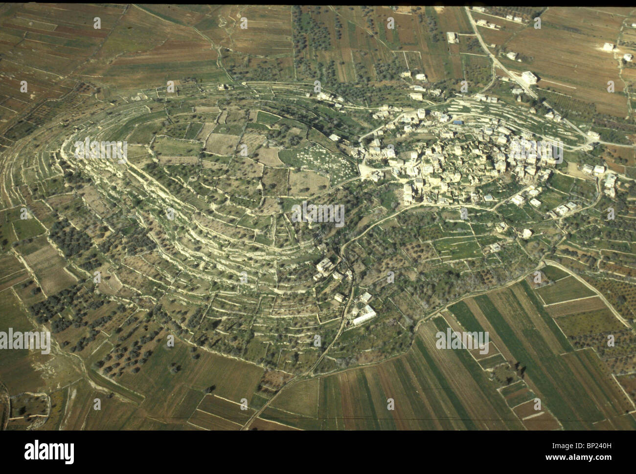 GIBEON - SITE OF THE ANCIENT CNAANITE CITY, 6 KM NORTH OF JERUSALEM. ONE OF THE HIVITE CITYES (JOSH 9:17) CAPTURED - Stock Image