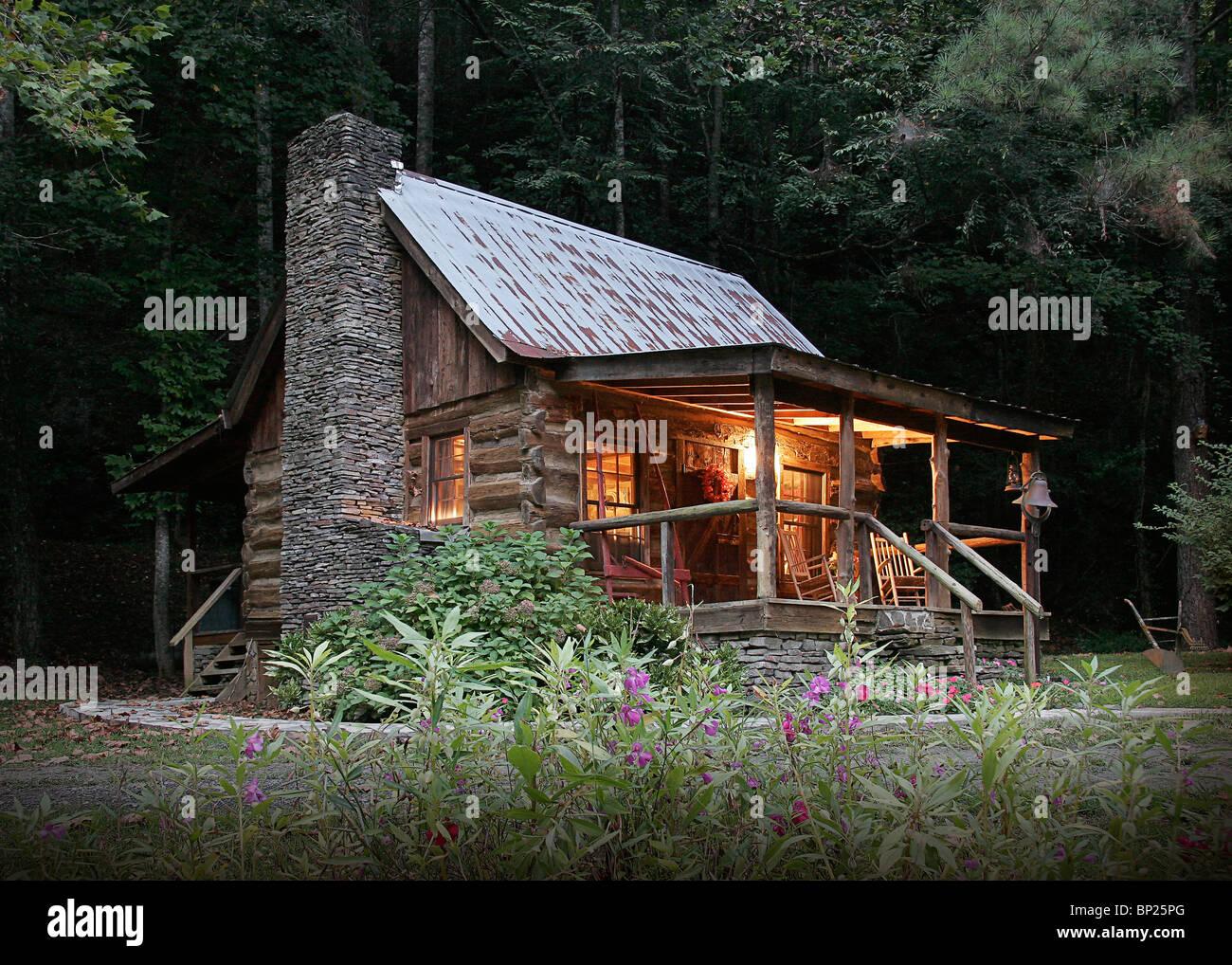 American Log Cabin Stock Photo 30781256 Alamy