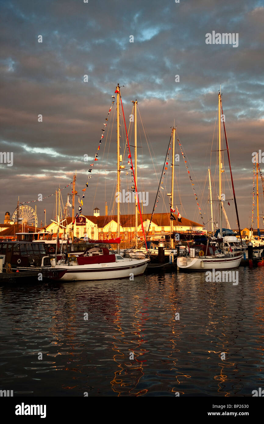 Hartlepool Marina, Tees Valley - Stock Image