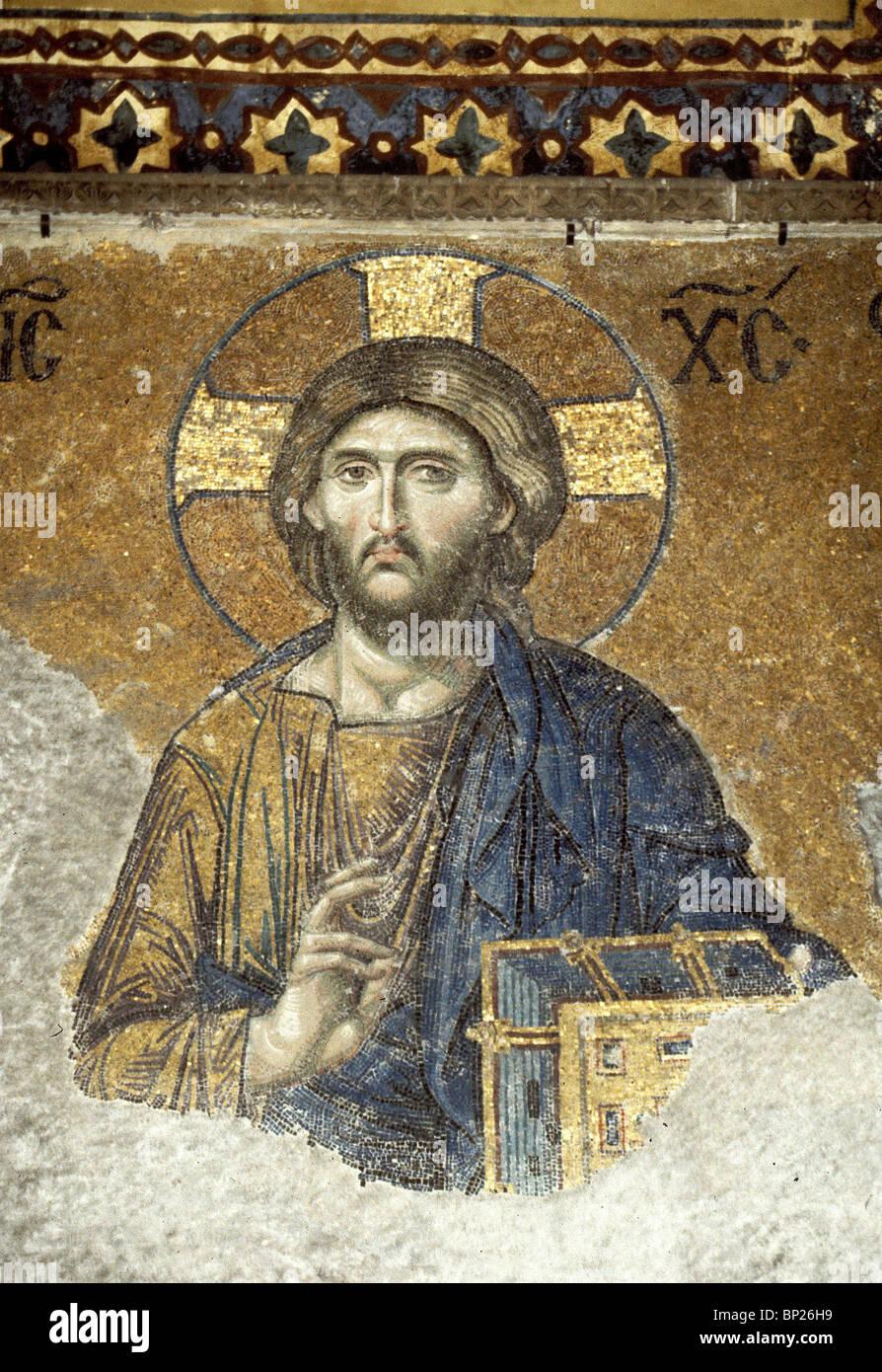 1094. JESUS CHRIST, 9TH. C. MOSAIC FROM HAGIA SOPHIA, ISTAMBUL - Stock Image