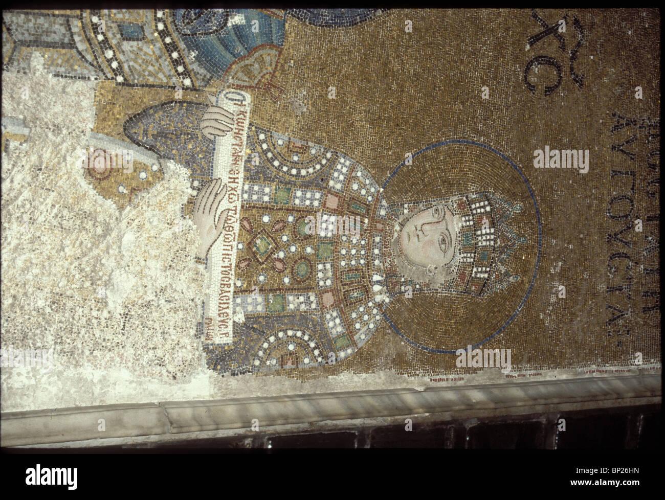 1101. HAGIA SOPHIA, 11TH. C. MOSAIC DEPICTING EMPRESS ZOE - Stock Image