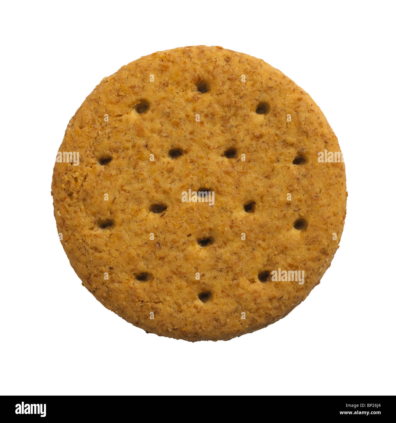 SINGLE RICH TEA MALTED BISCUIT ON WHITE BACKGROUND - Stock Image