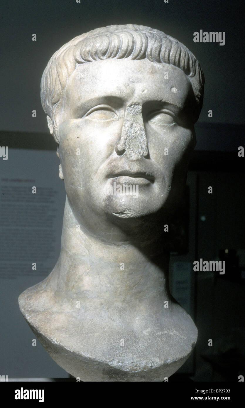 1550. EMPEROR CLAUDIUS, 41 - 54 AD. (ACTS 11:28 18:2) - Stock Image