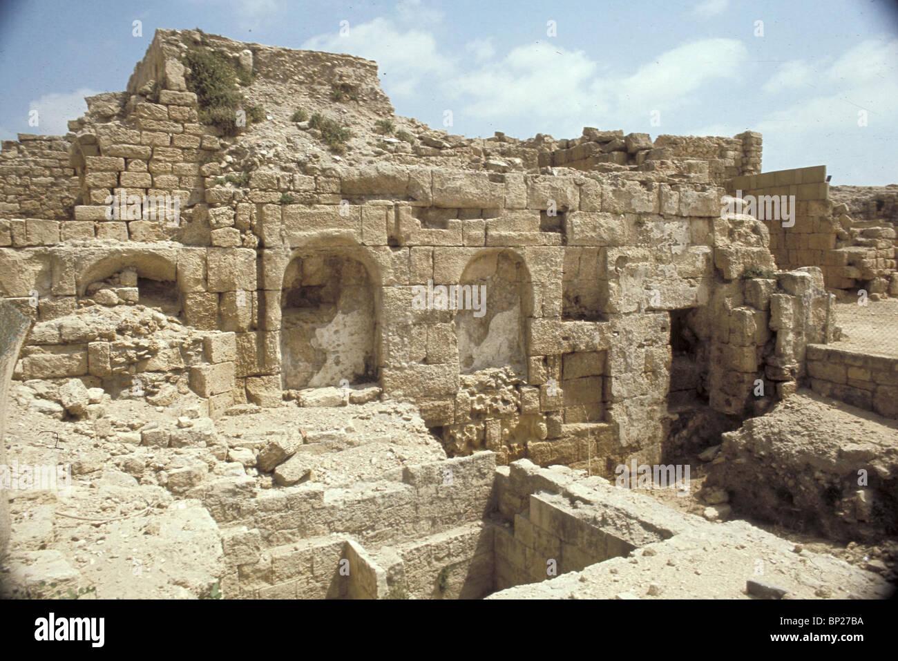 1628. CAESAREA - THE ROMAN TEMPLE - Stock Image