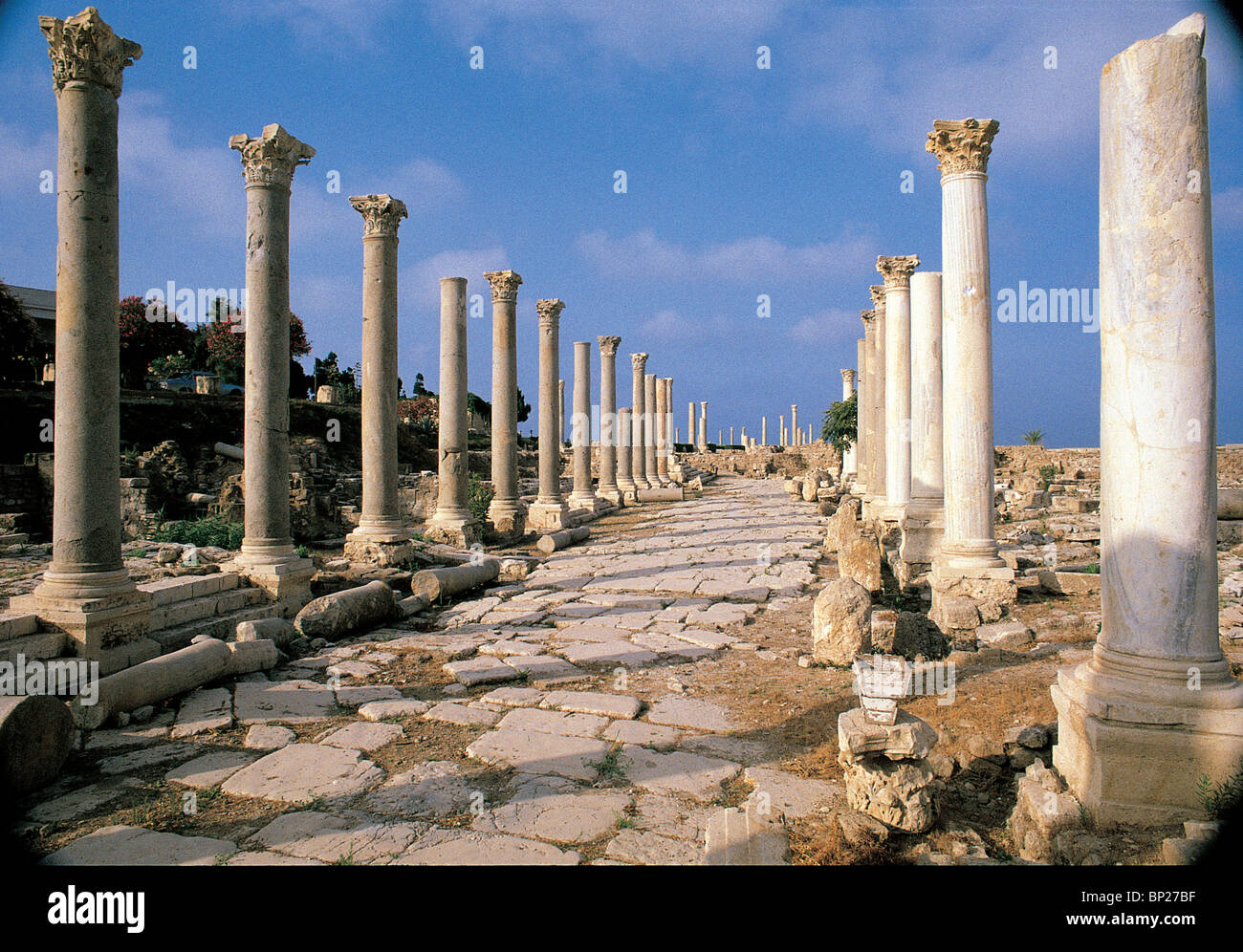 THE COLONADED STREET, ROMAN PERIOD - Stock Image