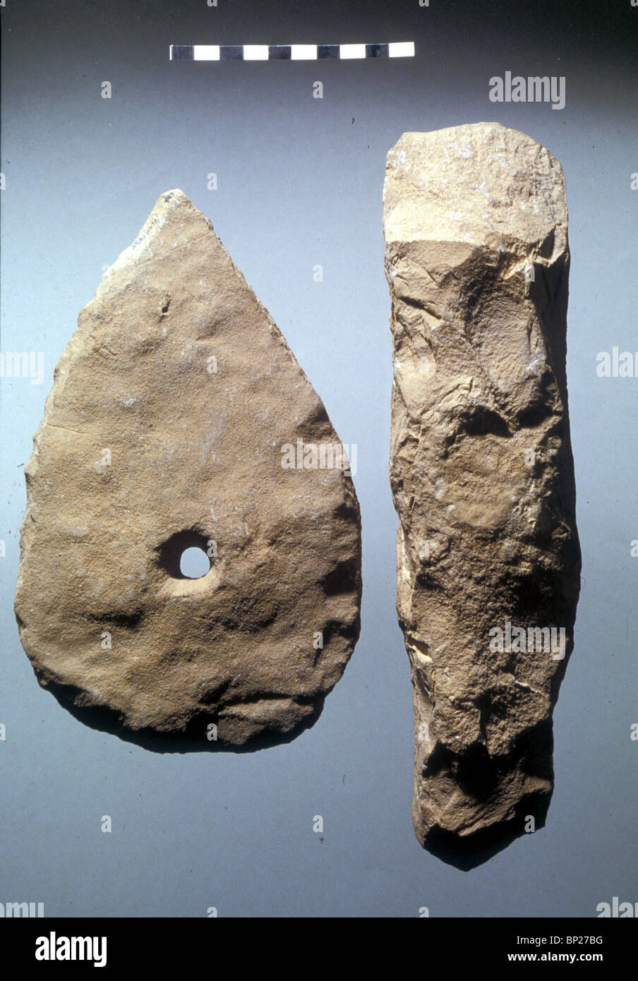 Stone implements dating from 9000 bc