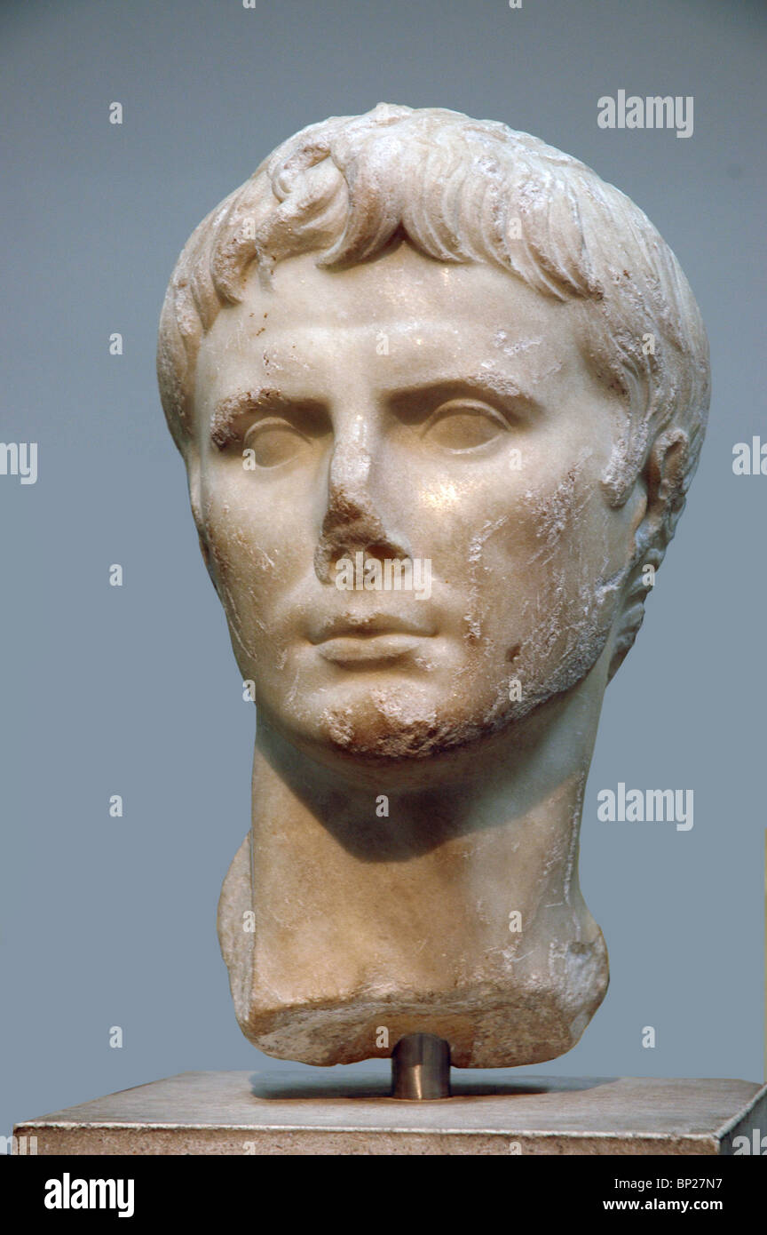 BUST OF EMPEROR AUGUSTUS - Stock Image