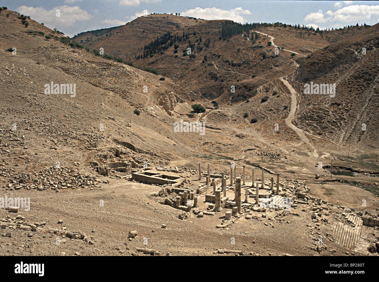PELLA - CITY ON THE SLOPES OF THE GILEAD MOUNTAINS. P. WAS A PROSPEROUS TOWN FROM THE HELENISTIC PERIOD UNTILL THE - Stock Image