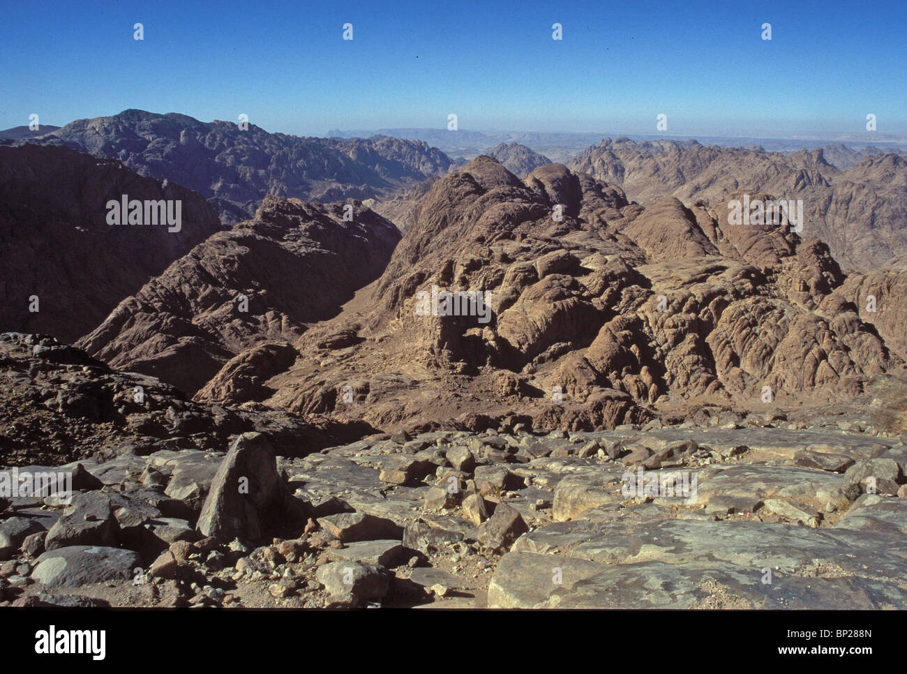 1946. SINAI - THE HIGH MOUNTAINS REGION IN CENTRAL SINAI NEAR MT. SINAI (MT. MOSES) - Stock Image
