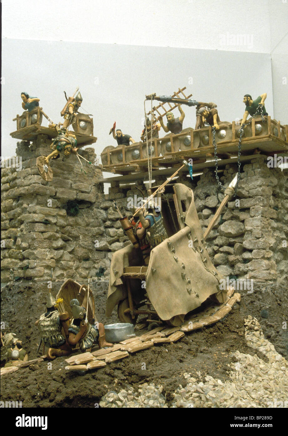 1970. MODEL OF ASSIRIAN WALL-RAMMING MACHINE (ACCORDING TO RELIEFS IN THE 7TH. C. BC. PALACE IN NINVEH) - Stock Image