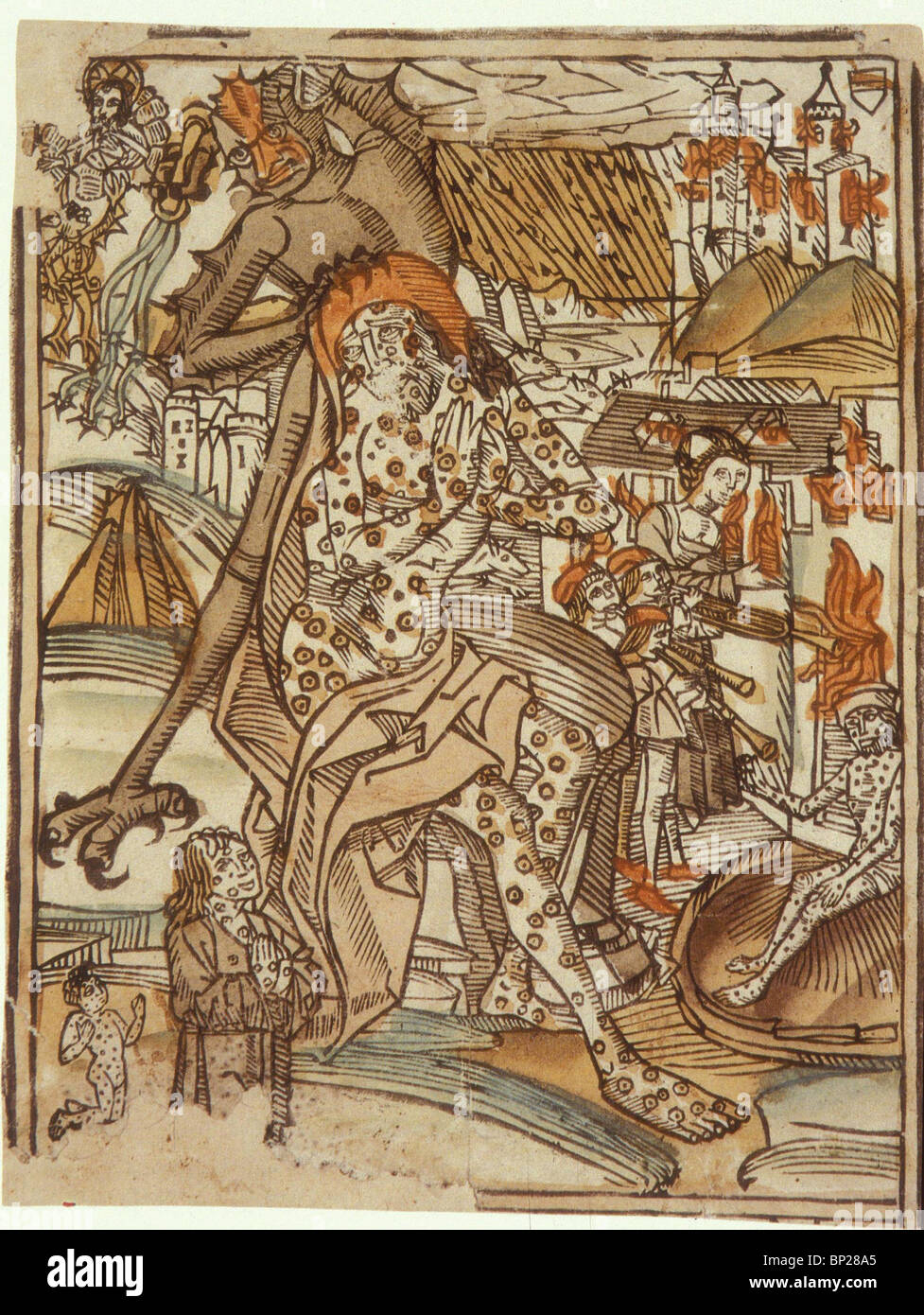 1996. JOB - WOODCUT FROM GERMANY, C. 1537 - Stock Image