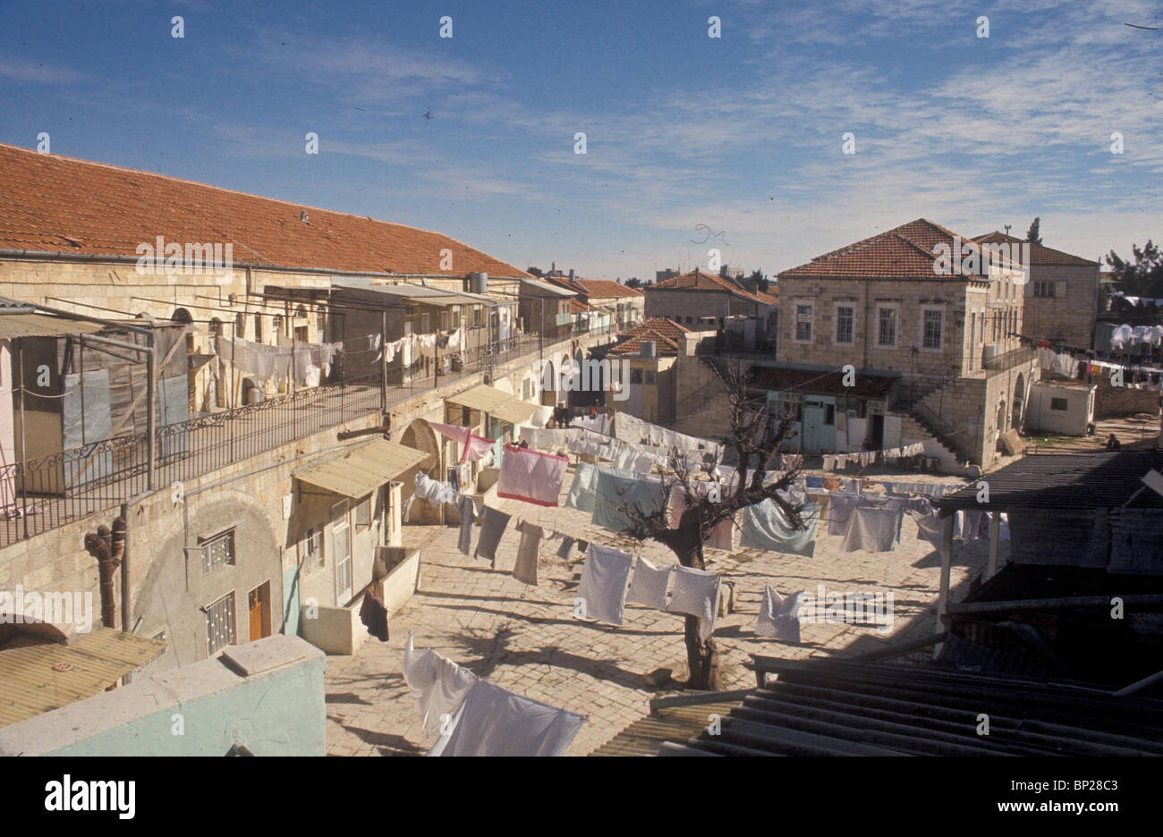 "2028. JERUSALEM, THE ULTRA ORTHODOX MEA SHEARIM"" QUARTER "" Stock Photo"