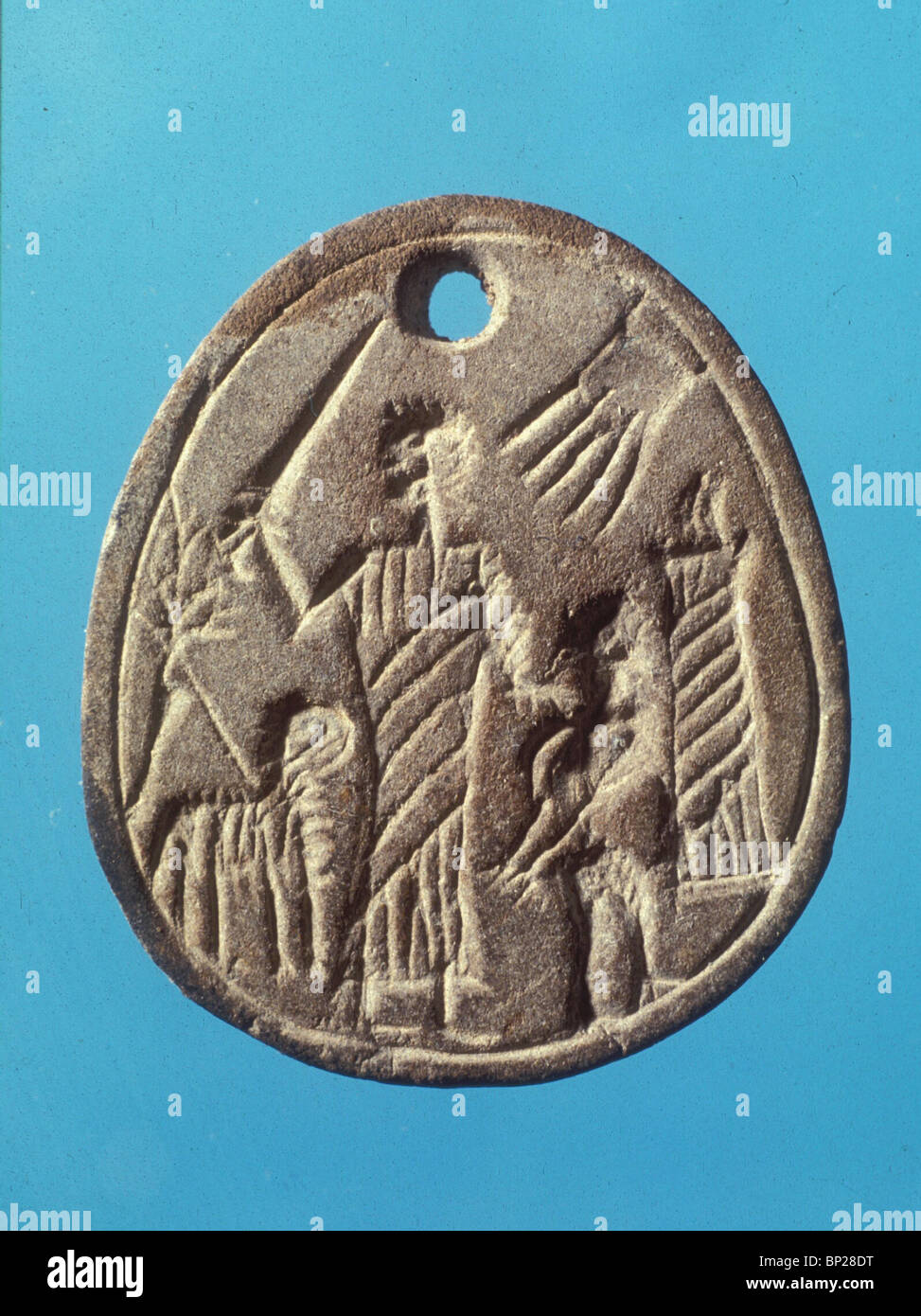 GNOSTIC AMULETS DEPICTING THE SACRIFICE OF ISAAC. THESE AMULETS DATING FROM THE LATE BYZANTINE PERIOD WERE BELIEVED - Stock Image