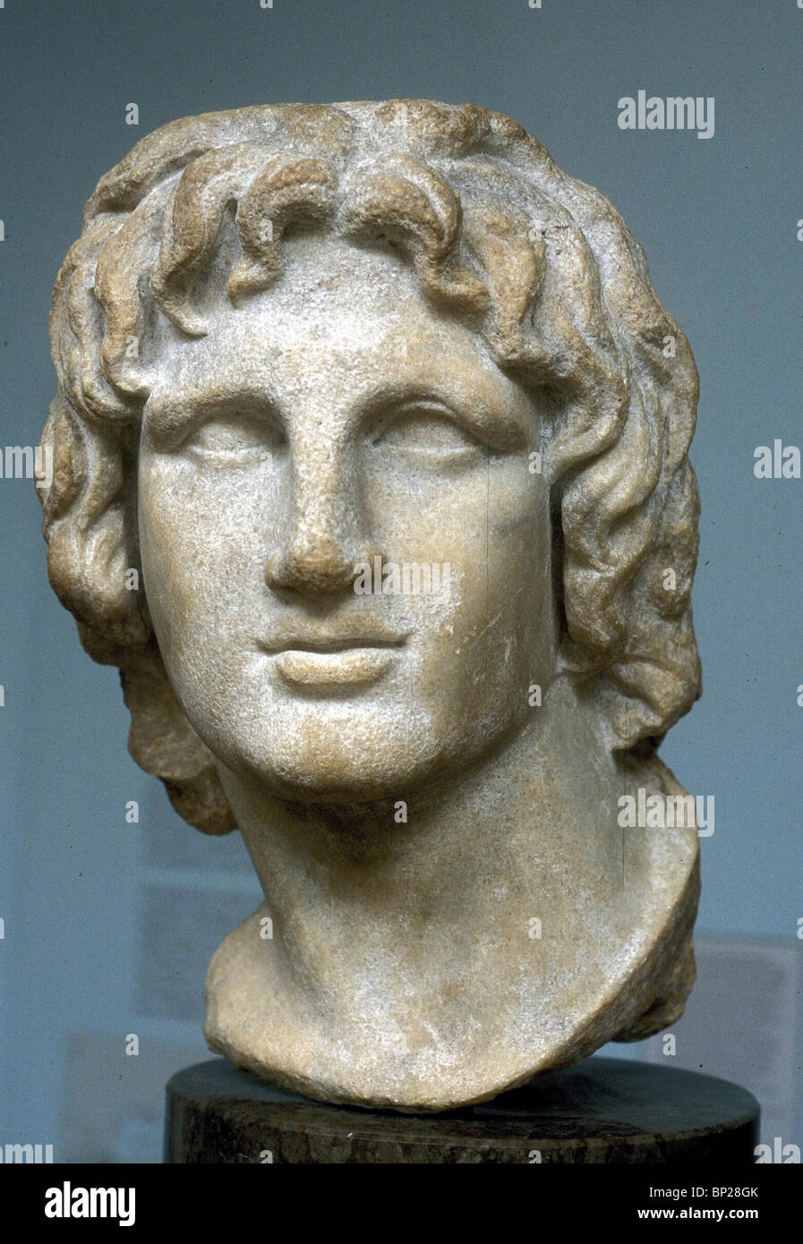 2175. MARBLE BUST OF ALEXANDER THE GREAT - Stock Image