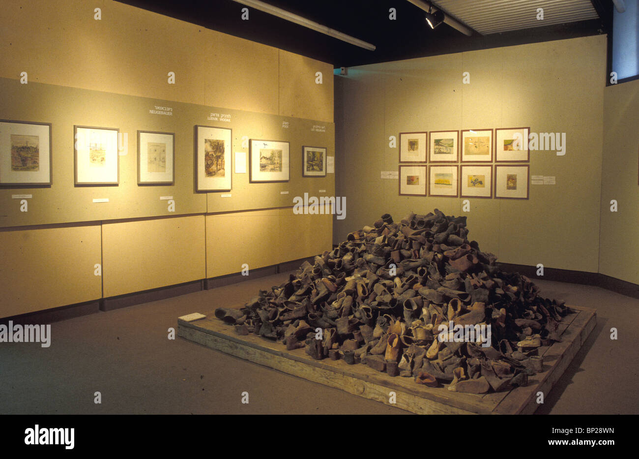 YAD VASHEM - THE HISTORICAL MUSEUM DOCUMENTING THE HOLOCAUST THROUGH PHOTOGRAPHS ARTIFACTS DOCUMENTS ECT. PIC: PILE - Stock Image