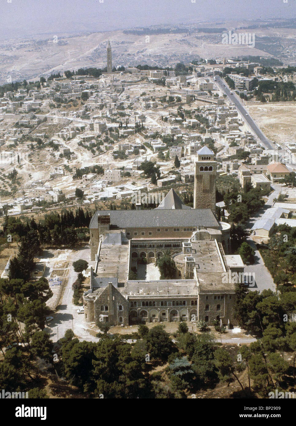 AUGUSTA VICTORIA - LOCATED ON THE MT. OF OLIVES IT WAS BUILT BY THE GERMAN KAISER WILHELM II. IN 1898 TO SERVE AS - Stock Image