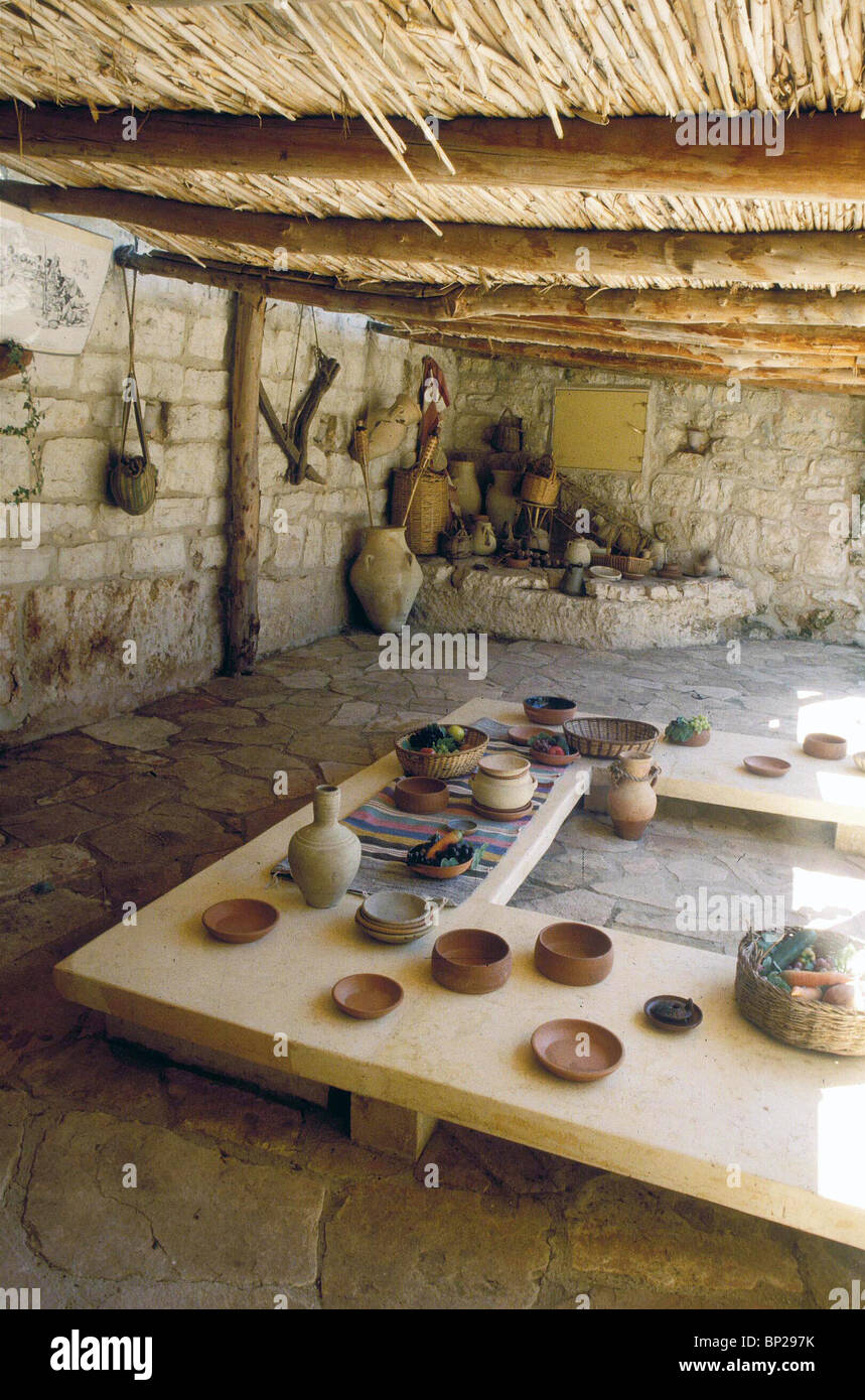 2768. MODEL OF A ROMAN PERIOD TABLE ARRANGEMENT - Stock Image