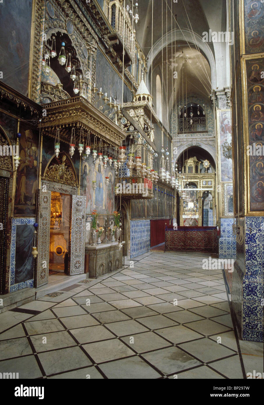 JERUSALEM - THE ARMENIAN QUARTER THE CHURCH OF ST. JAMES. THE CHURCH WAS BUILT BY THE CRUSADES IN 1160 ON THE SITE - Stock Image