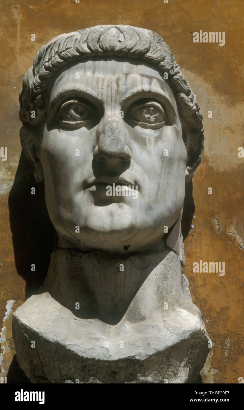 EMPEROR CONSTANTINE THE GREAT REIGNED FROM 307 - 337 AD. DURING HIS REGION CHRISTIANITY BECAME THE OFFICIAL RELIGION - Stock Image