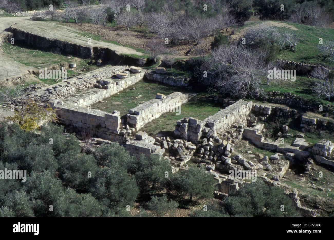 3112. SAMARIA (SHOMRON) - REMAINS OF KING AHAB'S PALACE DATING FROM C. 860 B.C. Stock Photo