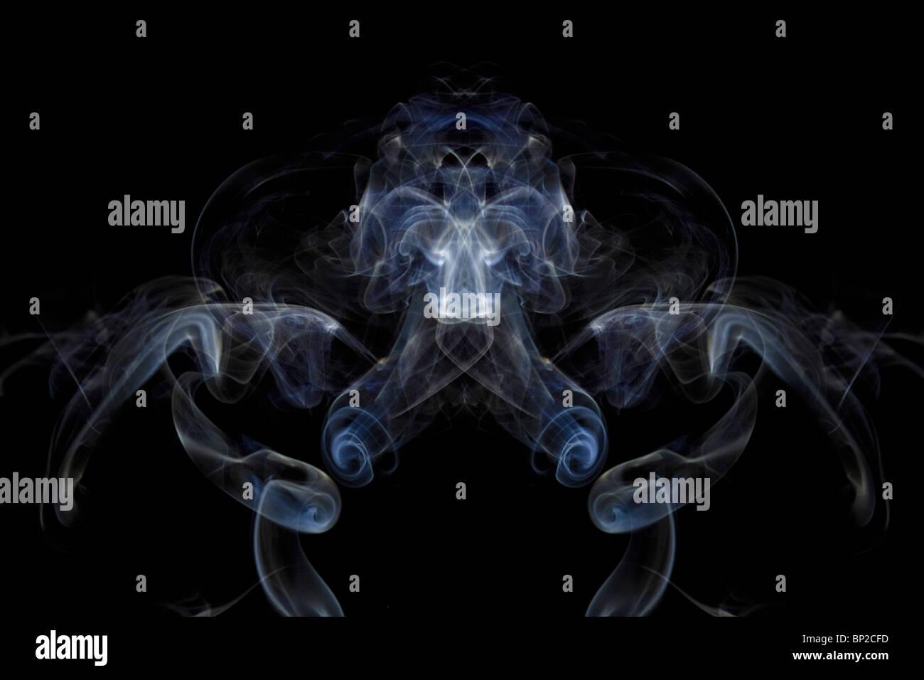 Smoke, Art, Photography, colourful, swirls, waves, colour, trippy, imaginative - Stock Image